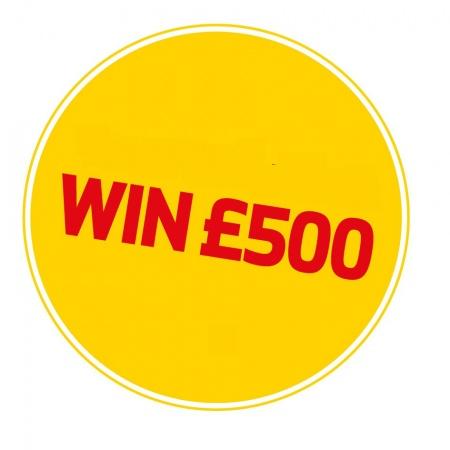 Win £500 image