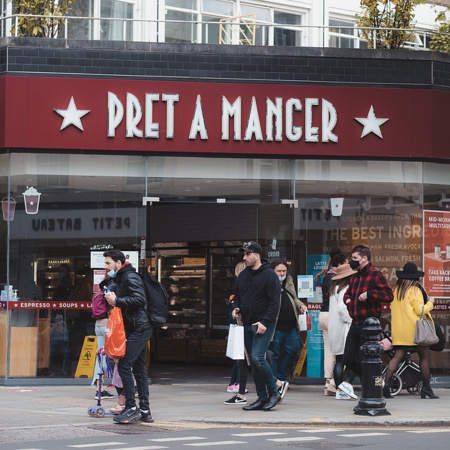 A UK branch of Pret a Manger
